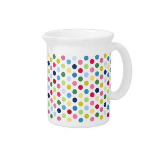 Rainbow polka dots pitcher
