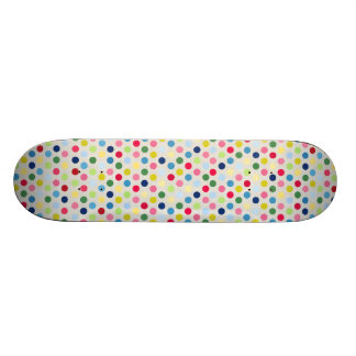 Rainbow polka dots skateboard deck
