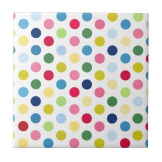 Rainbow polka dots tile