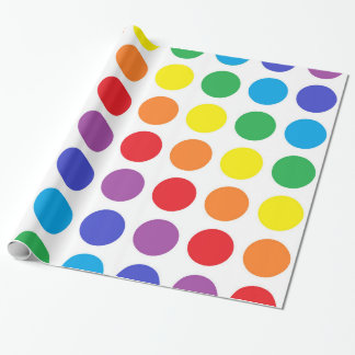 Rainbow Polka Dots Wrapping Paper