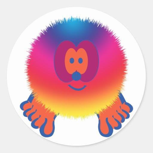 Rainbow Pom Pom Pal Stickers