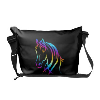 Rainbow Pony Messenger Bags