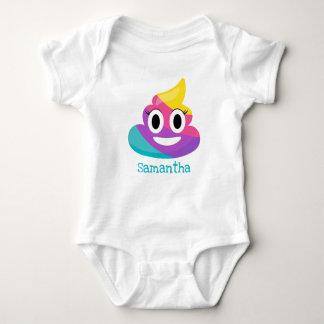 Rainbow Poop Emoji Baby Bodysuit