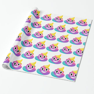 Rainbow Poop Emoji Wrapping Paper