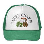 Rainbow Pot of Gold Lucky Charm Mesh Hats