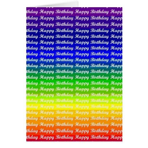 Rainbow Pride Birthday Greetings Greeting Cards