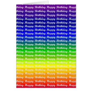 Rainbow Pride Birthday Greetings Greeting Card