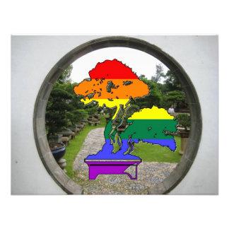 Rainbow Pride Bonsai Tree Custom Invitations