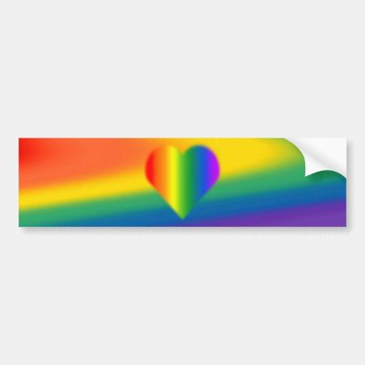 Rainbow Pride Bumper Sticker Same-Sex Pride Gifts Bumper Stickers