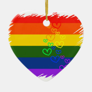 Rainbow Pride Christmas Ornament