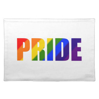 rainbow pride cloth placemat