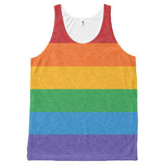 Rainbow Pride Flag All-Over Print Tank Top