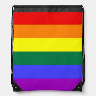 Rainbow Pride Flag Drawstring Bag