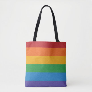 Rainbow Pride Flag Tote Bag