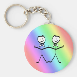 Rainbow Pride Gay Wedding Favors Basic Round Button Key Ring
