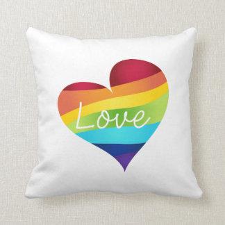 Rainbow Pride Hearts - Your Choice Love or Pride Cushion