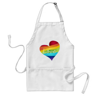 Rainbow Pride Hearts - Your Choice Love or Pride Standard Apron