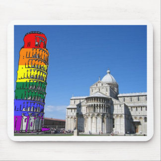 Rainbow Pride Leaning Tower Mouse Pad