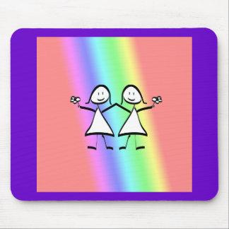 Rainbow Pride Lesbian Brides Mouse Mat