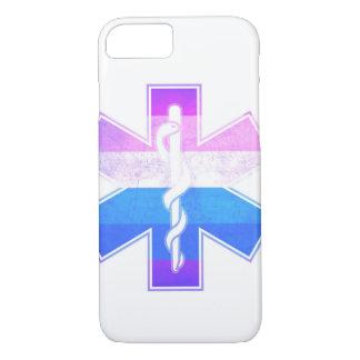 Rainbow Pride Medical Asclepius Caduceus iPhone 7 Case