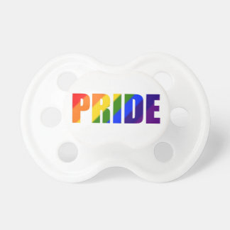 rainbow pride pacifier
