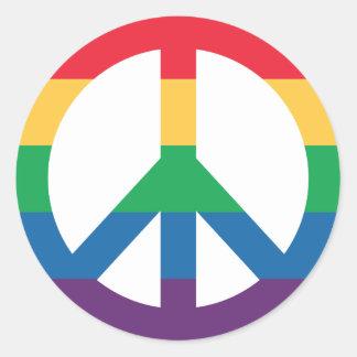 Rainbow Pride Peace Sign Sticker Sheet