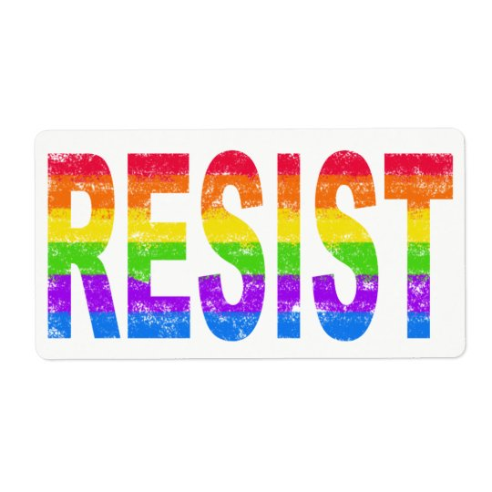 Rainbow Pride Resistance Labels