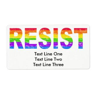 Rainbow Pride Resistance Labels
