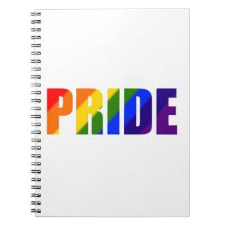 rainbow pride spiral notebook