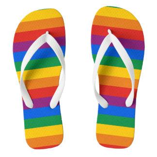 RAINBOW PRIDE STRIPES DESIGN -.png Flip Flops