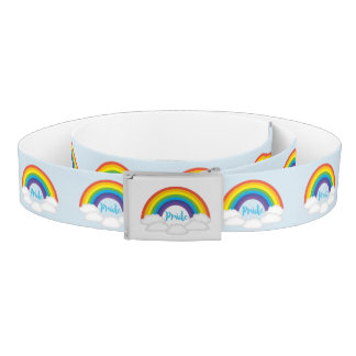 Rainbow Pride Super Cute Baby Blue Belt