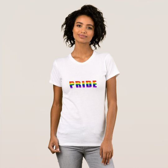 Rainbow Pride Text Art on all Colours T-Shirt