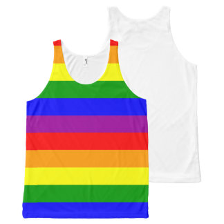 Rainbow Pride - unisex tanktop (one-sided print) All-Over Print Tank Top