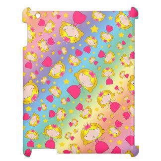 Rainbow princesses and stars iPad covers