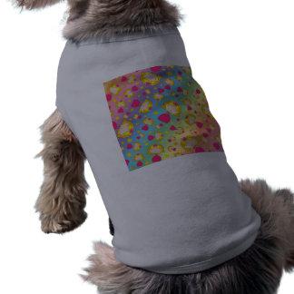 Rainbow princesses and stars sleeveless dog shirt