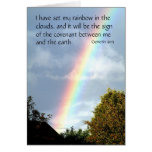 Rainbow promise - Genesis 9 v 13 | Greeting Cards