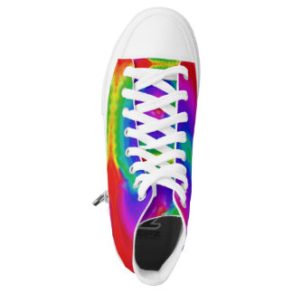 Rainbow Psychedelic Bright Colorful Hi-Top Sneaker