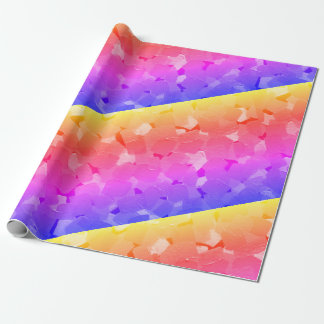 Rainbow Psychedelic Striped Wrapping Paper