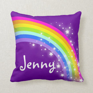 rainbow purple girls name Jenny cushion pillow