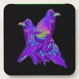 Rainbow Purple Ravens Gifts By Sharles Drink Coaster