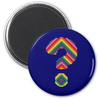 Rainbow Question Mark Fridge Magnets