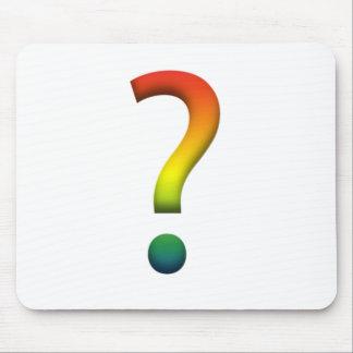 Rainbow question mark mouse mat