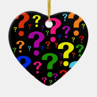 Rainbow Question Marks Christmas Ornament