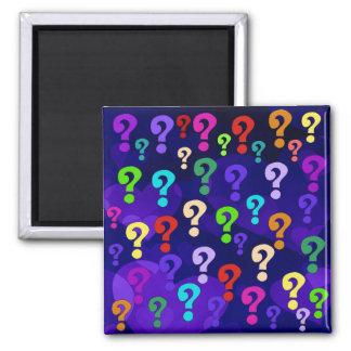 Rainbow Question Marks Fridge Magnets
