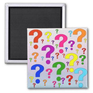 Rainbow Question Marks Fridge Magnet