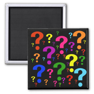 Rainbow Question Marks Refrigerator Magnets