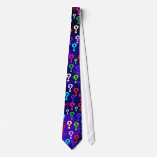 Rainbow Question Marks Tie