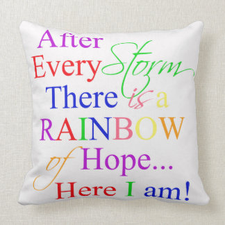 Rainbow Quote Baby Nursery Decor Throw Pillow