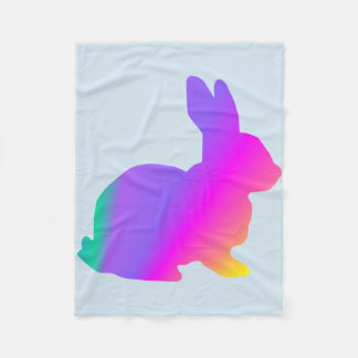 Rainbow Rabbit Fleece Blanket