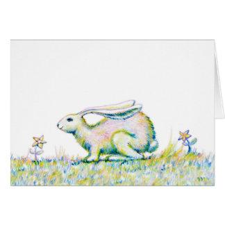 "Rainbow Rabbit - Note Card - 5.6"" x 4"""